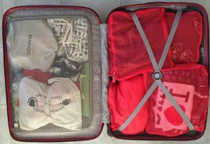 3ème et dernière étape de la préparation de la valise