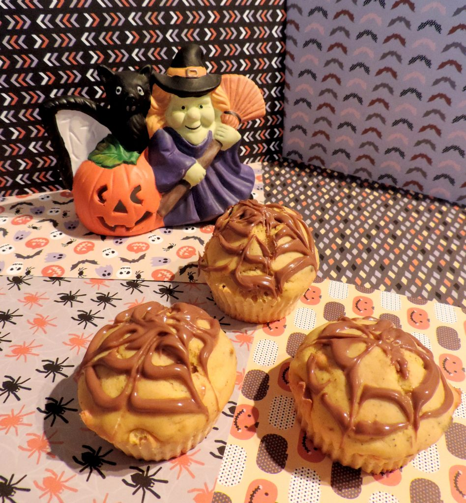 Muffins au butternut-pépites et glaçage nutella