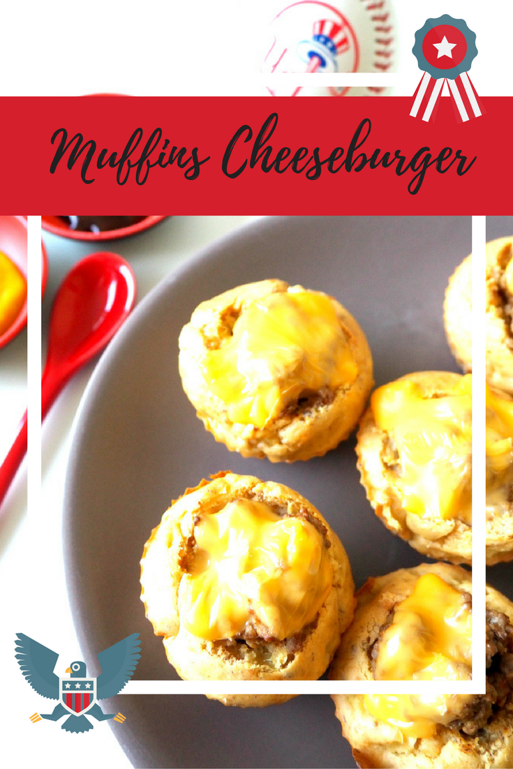 recette muffins cheeseburger american food