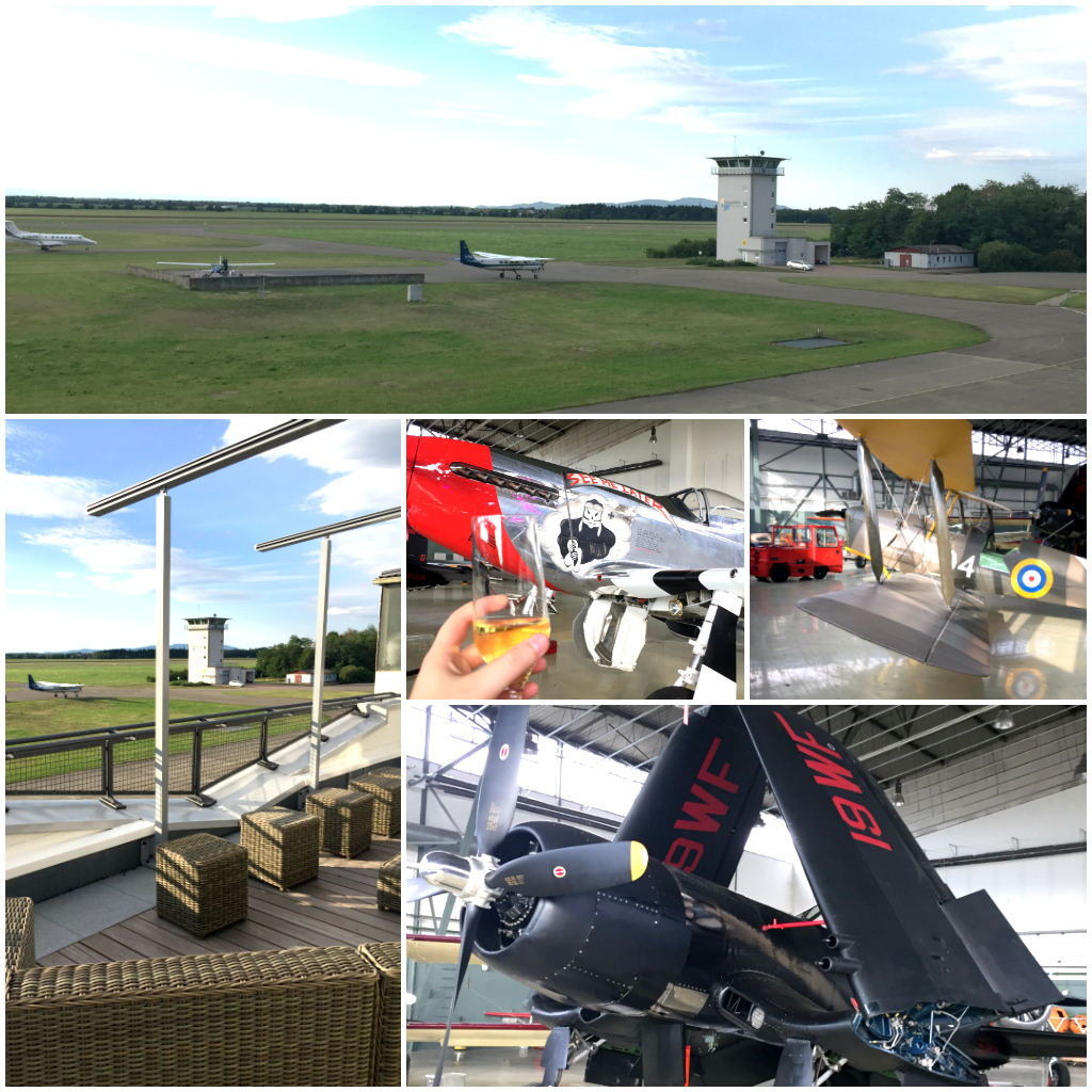 Le Fliegerhorst et ses avions