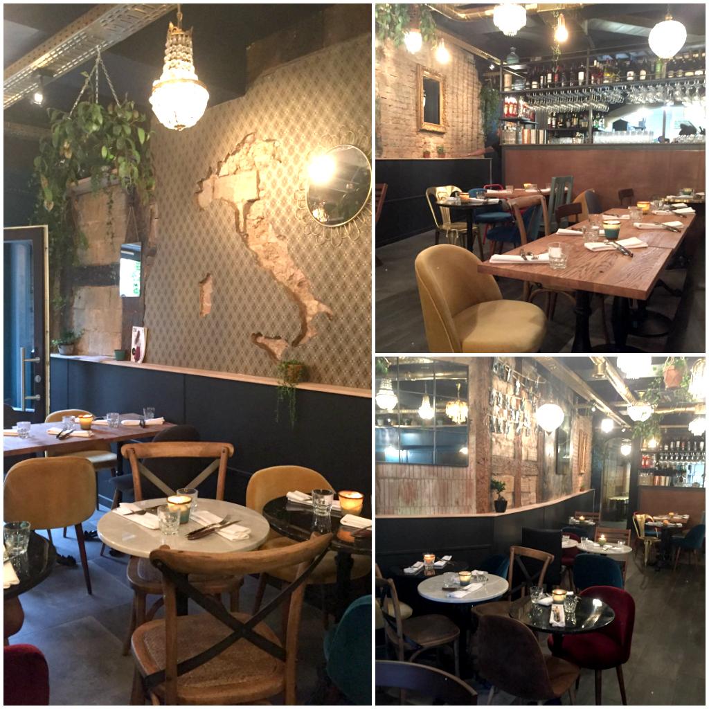Déco du restaurant italien Bastardo à Strasbourg