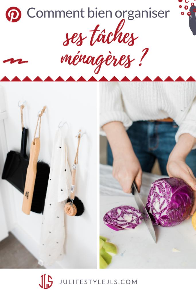 organiser tâches ménagères