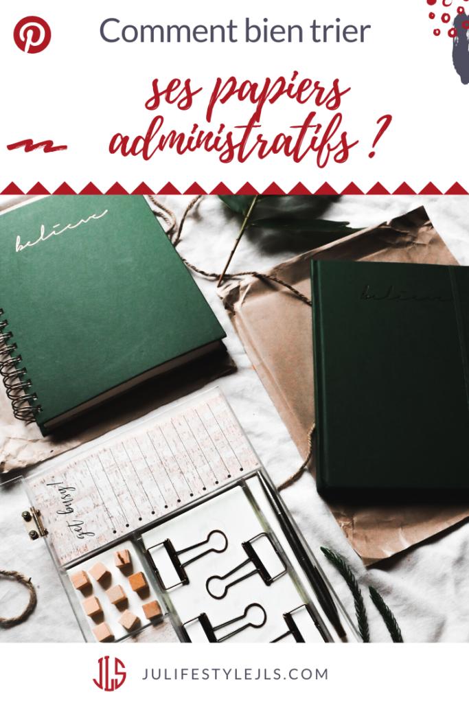 trier papiers administratifs